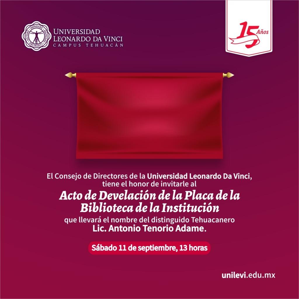 Develación Placa Universidad Leonardo Da Vinci