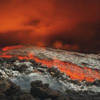 Evolución sobre volcán Cumbre Vieja, en la isla de La Palma